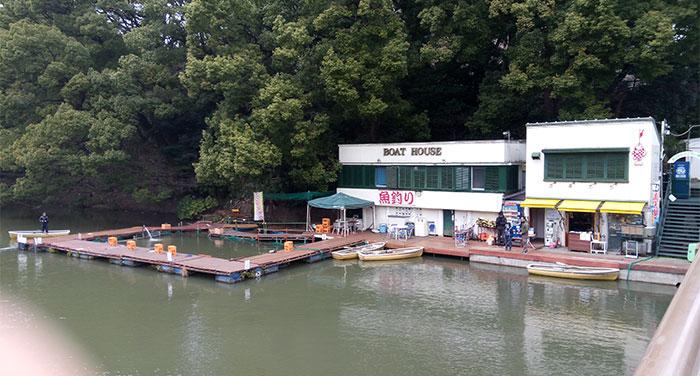 赤坂で釣りが出来る「弁慶橋ボート場(釣り堀)」