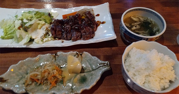 USA牛ハラミステーキ定食(1,100円)