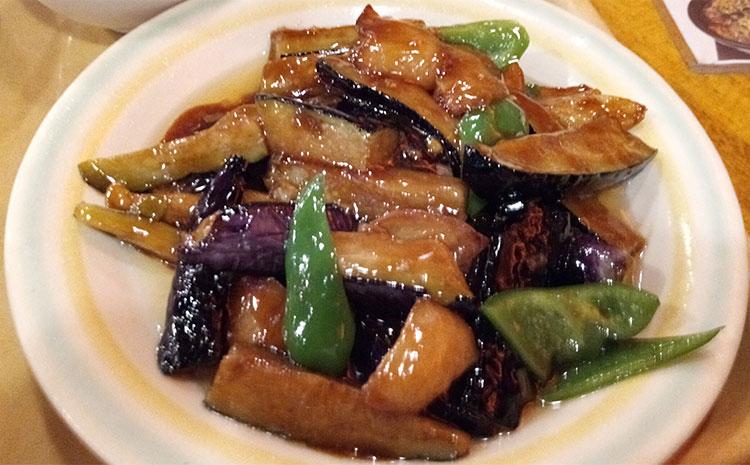 茄子、ジャガイモ、とピーマン炒め地三昧(788円)