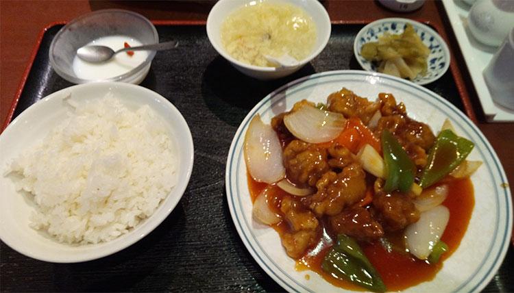 酢豚定食(850円)