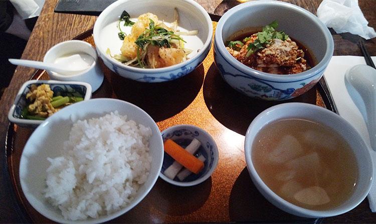 一湯三菜(1,500円)