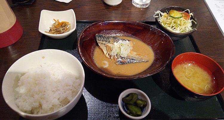 鯖みそ煮定食(750円)