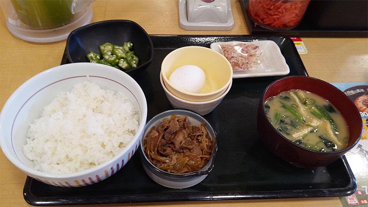 まぜごはん牛小鉢定食(350円)