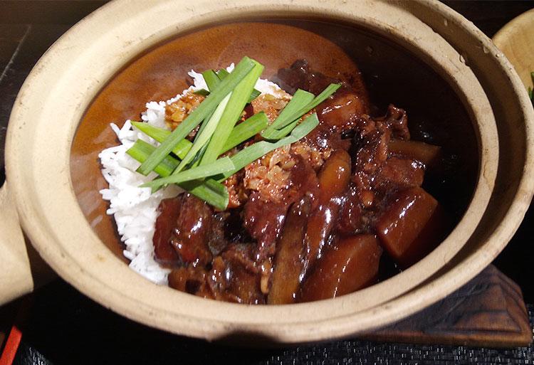 牛筋と大根の四川風土鍋ご飯