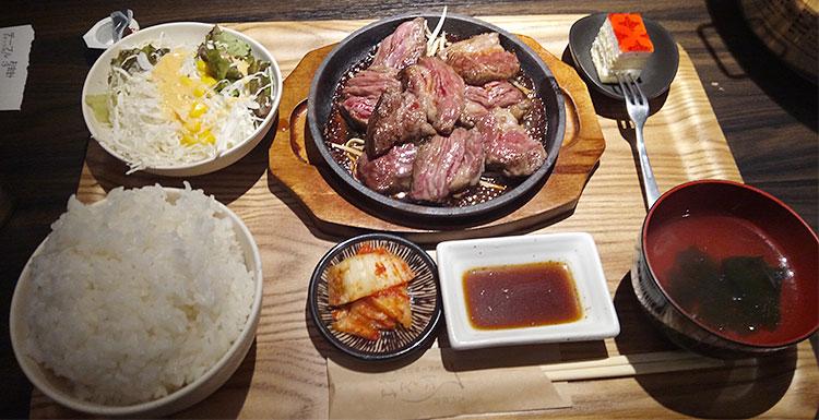 満腹焼肉定食(1,200円)