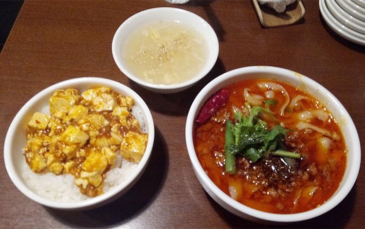 麻辣刀削麺セット