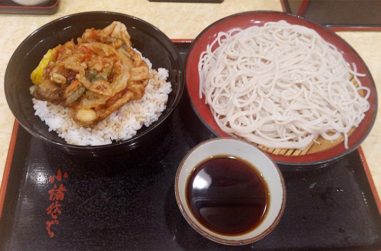 かき揚げ丼セット[大盛り](570円)