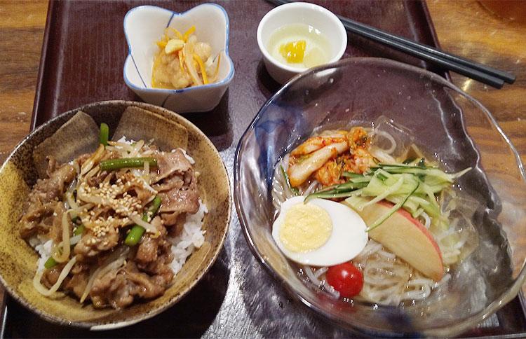 盛岡冷麺&牛スタミナ丼定食(1,000円)