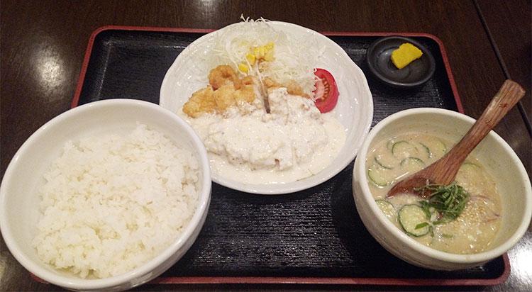冷汁とチキン南蛮のセット(1,050円)