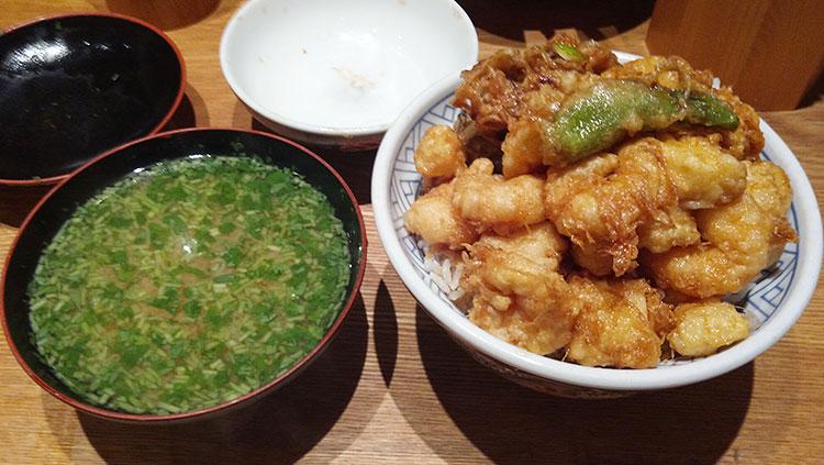 天ばら丼 味噌椀セット(1,170円)