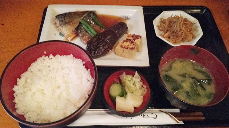 鯖と茄子の煮付定食(900円)