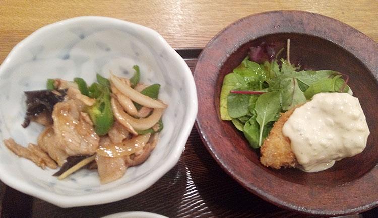 生姜焼き・鱈/ホタテフライ