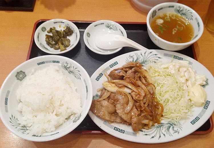 生姜焼き定食(700円)