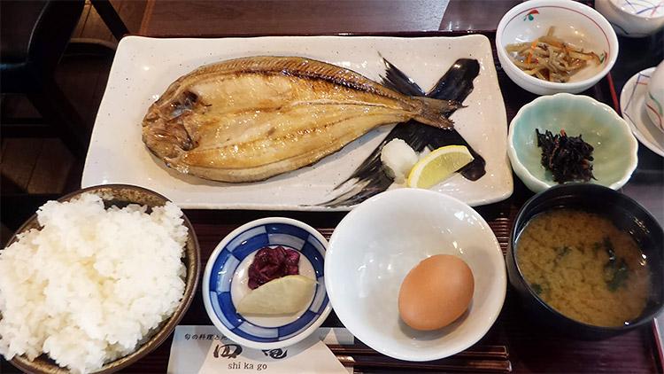 ホッケ開き定食(900円)