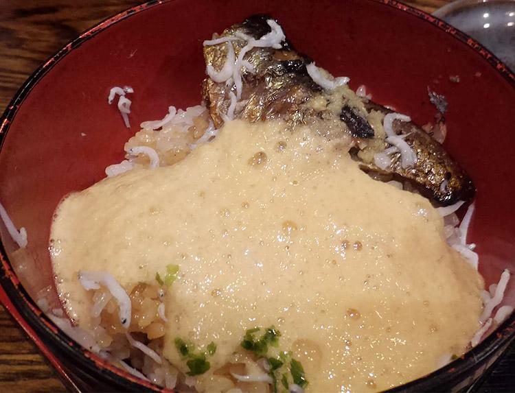 釜あげしらすと焼きいわしの親子丼(1,200円)