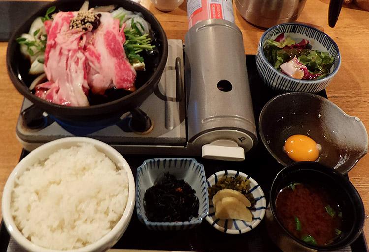 五寸鍋(すき焼き)[国産牛] 1,200円
