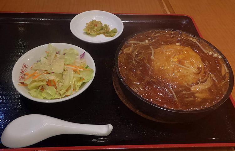 鉄板フカヒレあんかけチャーハン定食(1,000円)