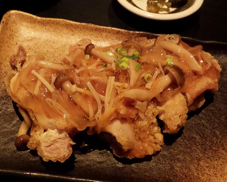揚げ鶏の甘酢あん定食(888円)