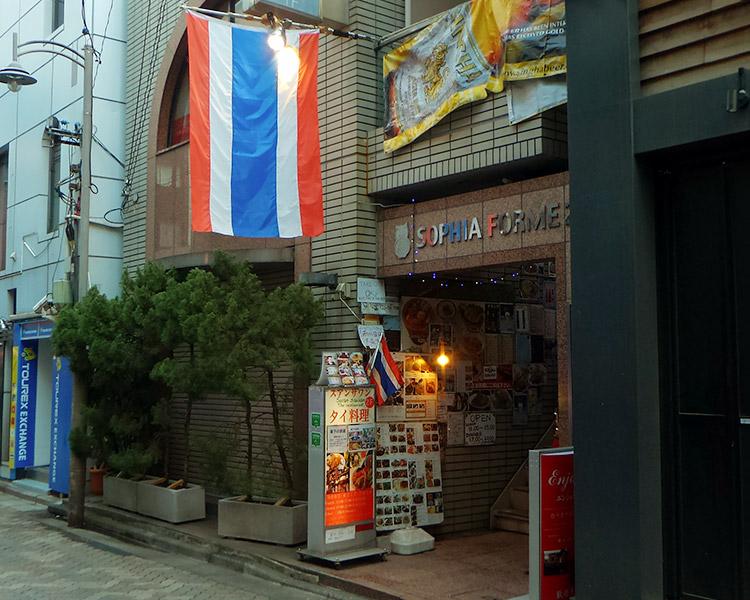 「スアンサワン 赤坂店」で「ガパオ&グリーンカレーセット(900円)」のランチ