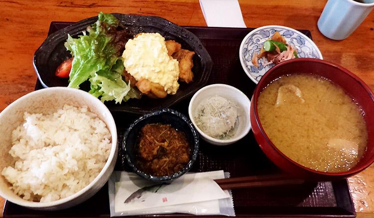 ちきん南蛮定食(1,200円)