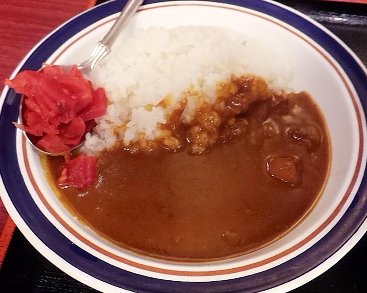 ミニカレーと天ぷらそば(690円)