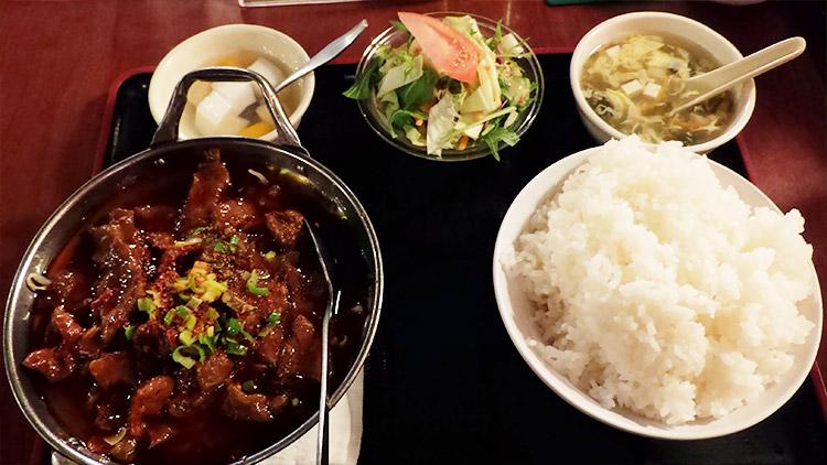 牛肉の唐辛子煮込み(960円)