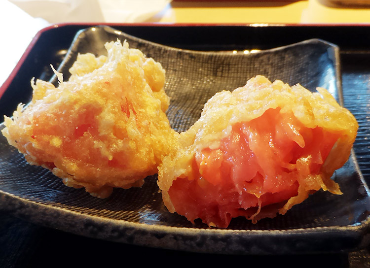 トマト天ぷら(200円)