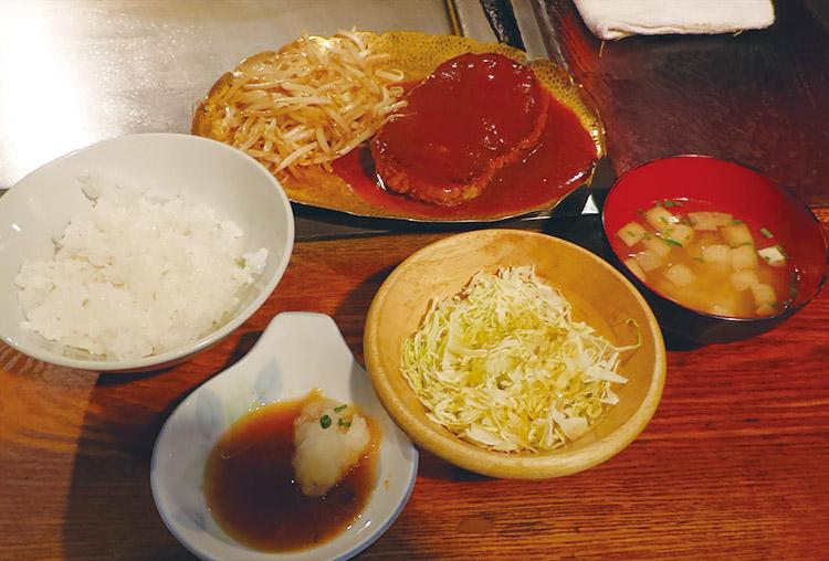 ジャンボハンバーグ定食[250g](1,300円)