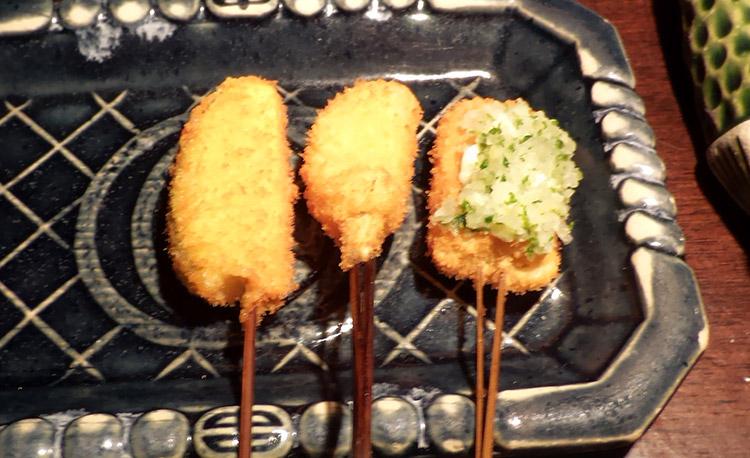 串揚げ定食[花/串8種](1,296円)