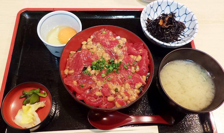 マグロ納豆丼[玉子付](1,200円)