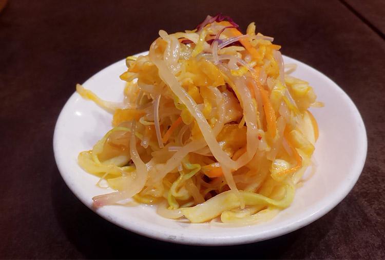 麻辣刀削麺+ネギチューシュー丼(1,000円)