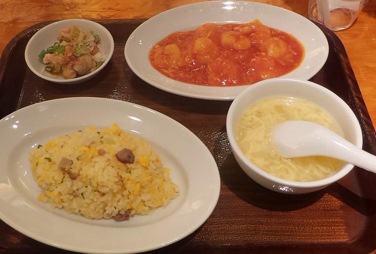 エビチリ/炒飯セット(1,380円)