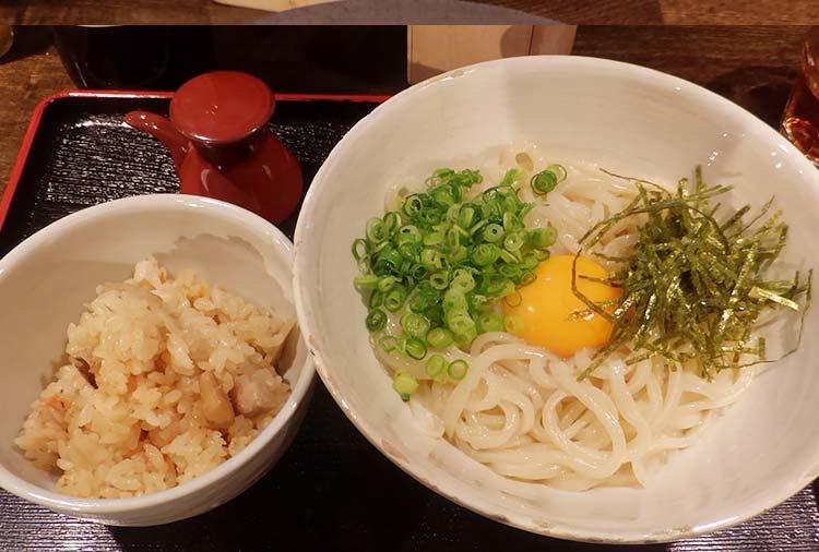 うどんランチセット(900円)