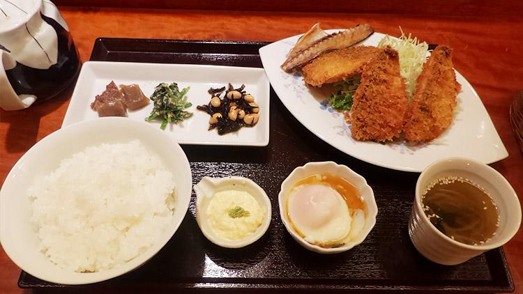 鯵ふらい定食(1,100円)