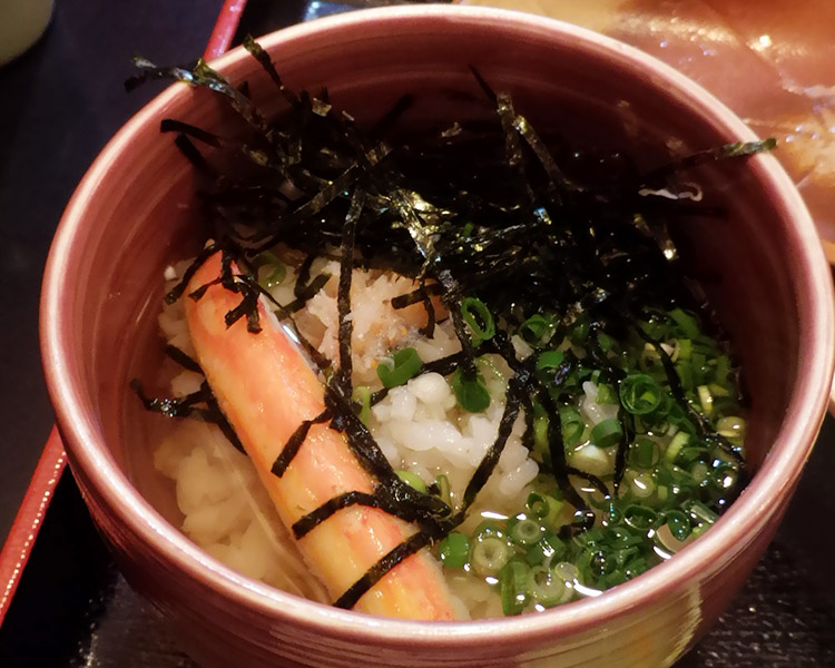 蟹茶漬けセット(1,000円)
