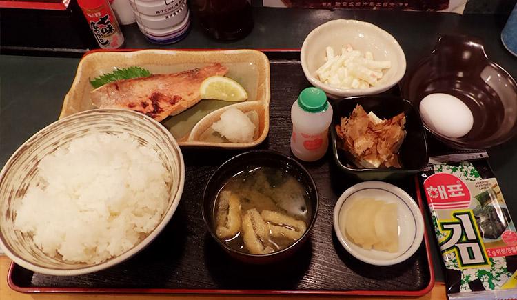 赤魚粕漬定食(750円)