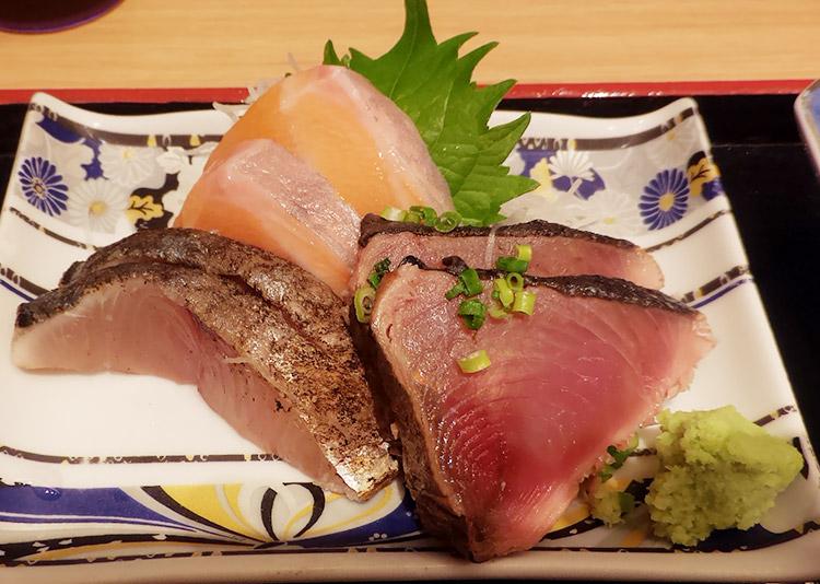 「魚錠 赤坂店(うおじょう)」で「さば塩焼き&刺身3点の限定ランチ(980円)」