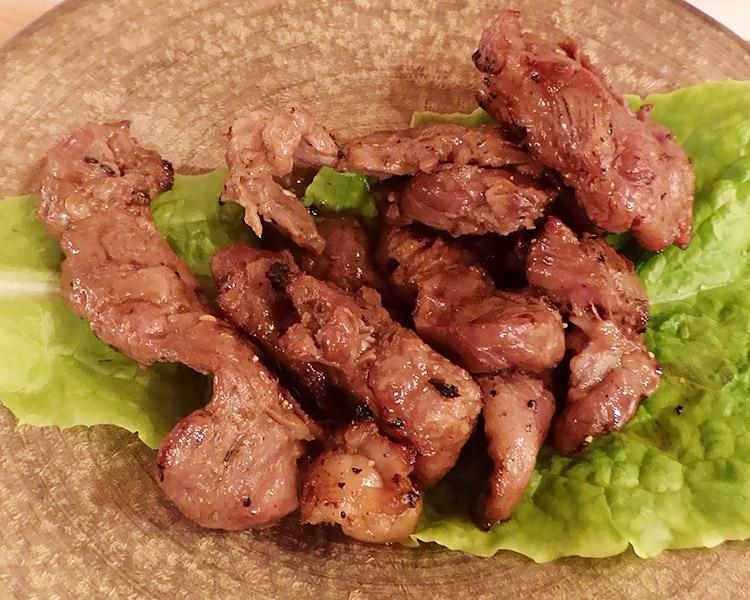 「牛串BB」で「A5黒毛和牛の焼肉定食(980円)」のランチ