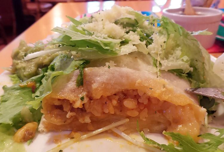 メキシコ料理「メヒコリンド」で「ブリトー(1,000円)」のランチ